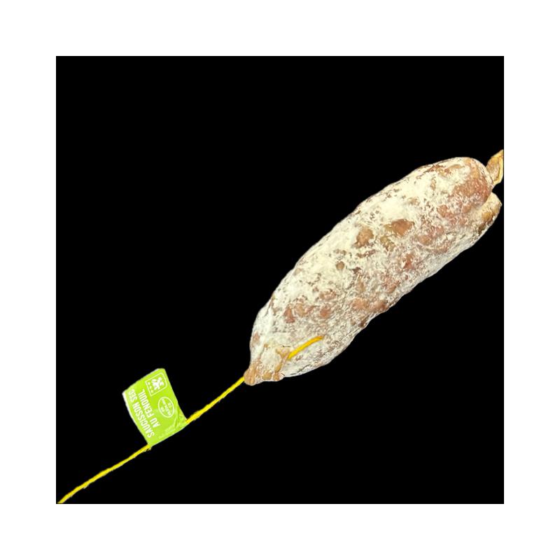 Saucisson de Lyon cuit, sauce Beaujolais