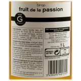 Etiquette Sirop Fruits de la Passion - Gilbert